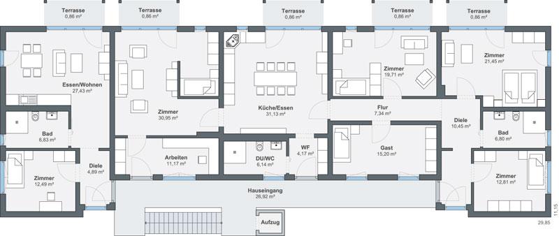 mehrgenerationenhaus wigwam von weberhaus. Black Bedroom Furniture Sets. Home Design Ideas